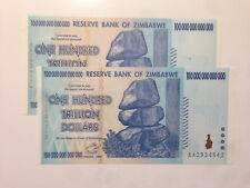 Zimbabwe; 100 TRILLION Dollars 2008 UNC World's Largest Currency Bill EVER made