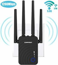 Wireless Signal Booster WiFi AC 1200 Dual Band Repeater Router AP Range Extender