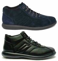 FRAU FX scarpe uomo pelle camoscio tessuto sneakers polacchine running stringhe