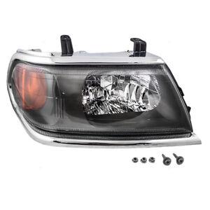 New Passenger Headlight Headlamp Chrome Bezel DOT 00-04 Mitsubishi Montero Sport