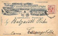 5656) PAVIA STABILIMENTO BACOLOGICO GEROLOMO QUIRICI E FIGLIO. VG NEL 1908.