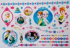 """FROZEN"" NEW Cartoon Temporary  Body Tattoo ELSA/ANNA/OLAF/snowflake Childrens"