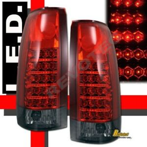 88-98 Chevy GMC CK C10 1500 2500 Silverado Sierra Red Smoke LED Tail Lights