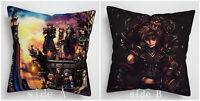 Kingdom Hearts Anime Manga two sides Pillow Cushion Case Cover