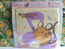 Pokemon Center Pikachu Friends Hand Towel Music Party Dedenne Stuffed plush Doll