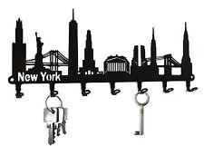 Schlüsselbrett New York Skyline - Schlüsselboard USA, Hakenleiste, Haken Metall
