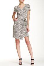NWT Diane von Furstenberg New Julian 'Sea Daisy Tiny Black' Wrap Dress 12 $398