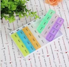 NEW Weekly Daily Pill Box Organiser Tablet Medicine Storage Dispenser 7 Day Week