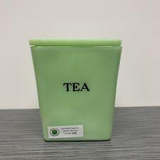 Jeannette Glass Co Jadite / Jadeite / Jade-ite 29oz Square Tea Canister