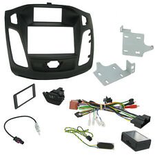 Ford Focus Double Din Car Stereo Fascia Fitting Kit With Door Lock Hazard Switch