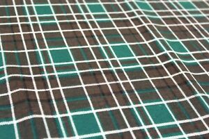 "Soft Brush 100% Premium Flannel Cotton, Traditional Tartan Print, 44"" 112cm"