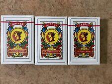 3X Naipes plastic box new Spanish Playing Cards Baraja Espanola 50 Cards Tarot