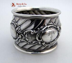 Baroque Napkin Ring 800 Silver 1890
