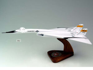 North American XB-70 Valkyrie USAF Solid Mahogany Replica Airplane Desktop Model