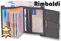 Rimbaldi® Geldbörse & Kartenetui in einem aus naturbelassenem Leder in Schwarz