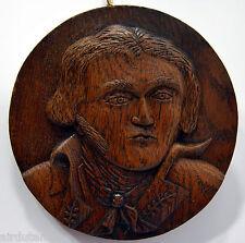 MEDAILLON bois sculpté GENERAL KLEBER chêne XIXè XXè