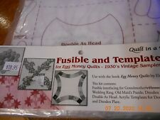 Quilt in a Day Egg Money Quilts-Fusible and Template Kit-30's Vintage Samplers