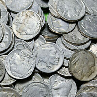 ✯ (5) Buffalo Nickels FULL DATE ✯ Classic Old U.S. Coin 1913-1938 ✯Antique Money