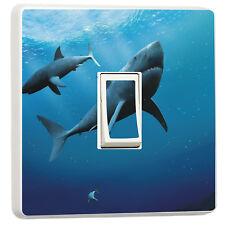 Great white Sharks underwater sea light switch sticker (17379239) seascape