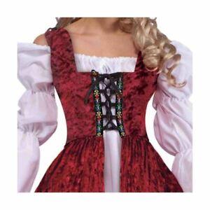 Medieval con Cordones Bata Renacimiento Doncella Sirvienta Disfraz de Halloween