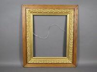 "Vintage/Antique 16"" x 20"" Oak Wooden Frame w/Gold Gilt Liner Picture Photo Art"