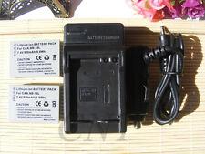2X NB-10L Battery &Charger for Canon PowerShot SX40 HS SX50 HS SX60 HS G15 G16