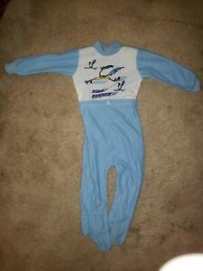 Vintage 1990 Road Runner Footie Pajamas Boys 18 Months