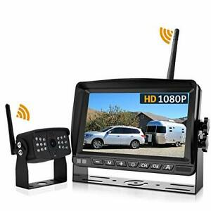 Wireless Backup Camera DOUXURY 170° Wide View 1080P HD IP69 Waterproof Night ...
