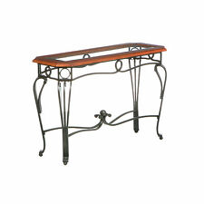 CST34557 METAL & WOOD CONSOLE TABLE