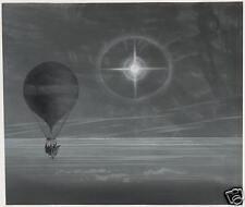 """Lunar halo sur zenith ballon le vol de paris à arachon 1875-print 6x4"""""""