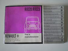 LIBRETTO USO E MANUTENZIONE RENAULT R 4 R 3 4L 6 volts - 1120 1123 - EPOCA RARO