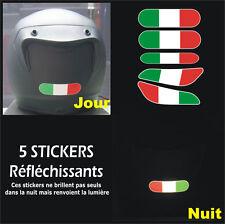 5 Stickers RETRO-REFLECHISSANTS ITALIE pour CASQUE - Ducati Aprilia Moto Guzzi
