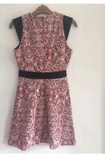 Zara Women Ladies Red And Black Paisley Print Dress Size XS