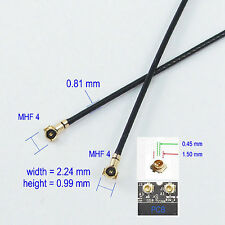 MHF4 to MHF 4 VI IPX IPEX 0.81mm RF Pigtail Coax Jumper 4in Cable 10cm Antenna ""