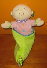 Manhattan Toy Sweet Pea Plush Baby Doll in Pea Pod Pink Lovey Toys