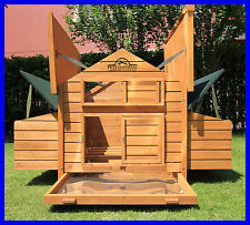 MARLBOROUGH LARGE DELUXE CHICKEN COOP HEN POULTRY HOUSE RABBIT HUTCH RUN NEST