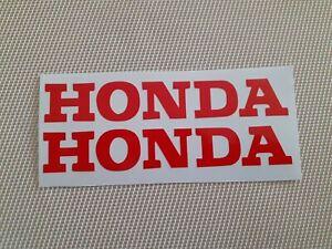 -Hochqualitative Premium Honda Motorrad Aufkleber-Sticker in Rot-
