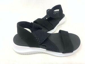 NEW! Skechers Women's ULTRA FLEX NEON STAR Comfort Sandals Black #32495 156C