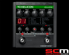 RRP$499 TC Electronic Helicon Voicetone Double Effect Pedal Electric Vocal FX