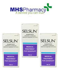 3 confezioni di SELSUN Anti Forfora Shampoo 150ml