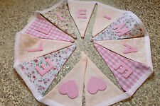 PERSONALISED BUNTING- PINKY MIX- CHOOSE THE NAME OR WORD - £1 PER FLAG, FREE P&P