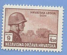 Croatia Germany Third Reich Nazi Axis 1943 Legion Soldiers 9+450 Stamp MNH WW2