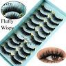 10 Pairs Natural False Eyelashes Fake Long 3D Mink Extension Lashes Eye Makeup