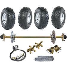 "New listing 29"" Go Kart Rear Live Axle Kit Brake Rotor 6"" Wheels Sprocket Drift Trike Quad"