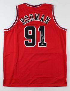 Dennis Rodman Signed Jersey (Beckett COA)-Free Shipping