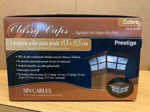 Classy Cap 6''x6'' Prestige Electroplated Copper Solar LED Plastic Deck Post Cop
