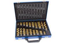 HSS Bohrer Satz 170-tg Spiralbohrer Werkzeug Set Titan nitriert Metallbohrer BGS