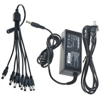 12V 5A Power Supply Adapter for CCTV Security Camera DVR + 8 Split Zmodo Q-See