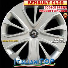 """RENAULT CLIO dal 2016 UNO (1) COPRICERCHIO BORCHIA 5755/5 Diam 15"""" NUOVO"""