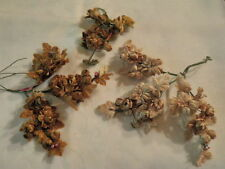 """Vintage Millinery Flower Collection 1"""" All Velvet Doll Size Blooms Brown H1547"""